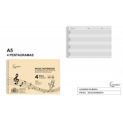 CUADERNO MUSICA A5