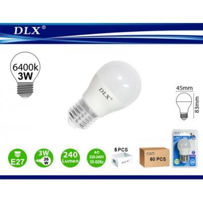LED.G45 E27 3W 6/u